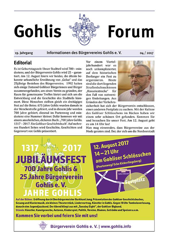 Gohlis Forum 04/2017