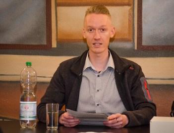 Peter Niemann, Vorsitzender des Bürgervereins von 2014-2016, beim Jahresrücklick ; Foto: Andreas Reichelt