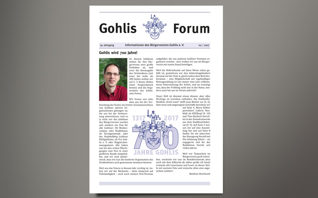 Gohlis Forum 2/2017: Reichelt Kommunikationsberatung