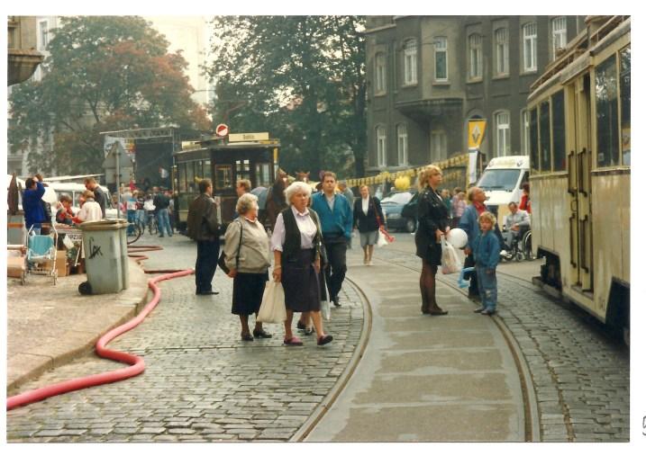 Fest zum 675. Geburtstag von Gohlis im Jahr 1992 in der Menckestraße