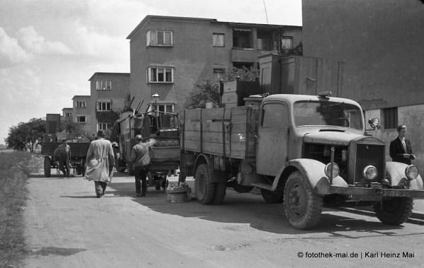 1947 Leipzig, Krochsdorf Umzüge (vermutlich Teilberäumung), LKW
