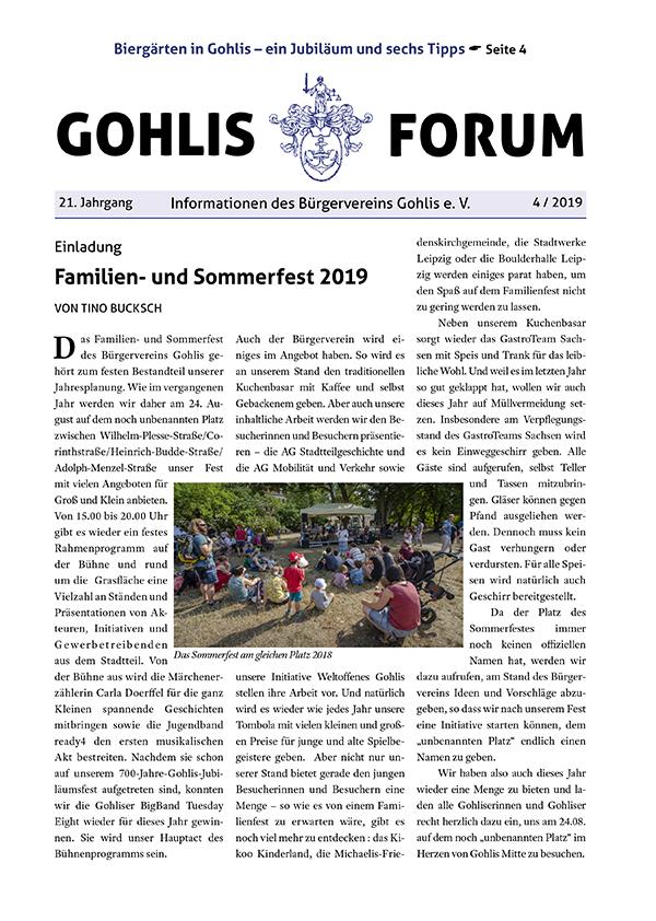 Gohlis Forum 04/2019