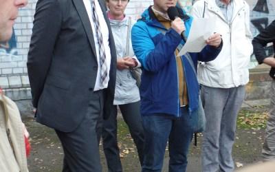 Gohlis-Rundgang des Oberbürgermeisters am 1. Oktober