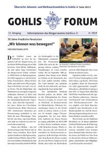 Gohlis Forum 6/2019 Reichelt