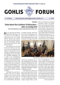 Gohlis Forum Ausgabe März/April 2020, Layout by Reichelt Kommunikationsberatung