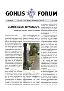 Gohlis Forum 3/2020; Layout: Reichelt Kommunikationsberatung