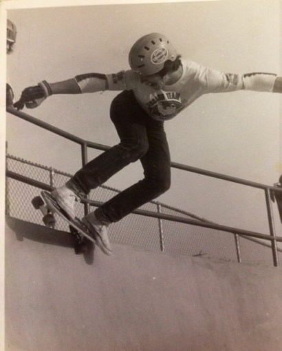 Backside 5-0 at Concrete Wave, 1977-78.