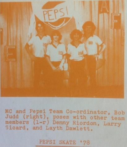 Pepsi team, 1978.