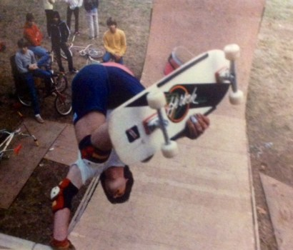 Invert at the Towsen family backyard ramp, 1986.