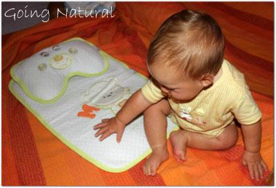 Corredino neonato in cotone biologico Kebeo : fasciatoio da viaggio