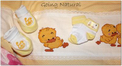 Corredino neonato in cotone biologico Kebeo - scarpine e calzine