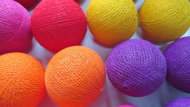 Coloured lights from Cable & Cotton