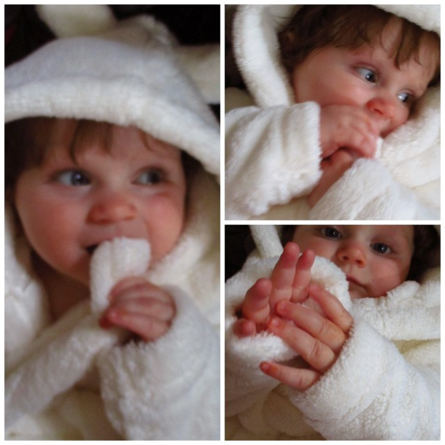 fluffy baby dressing gown