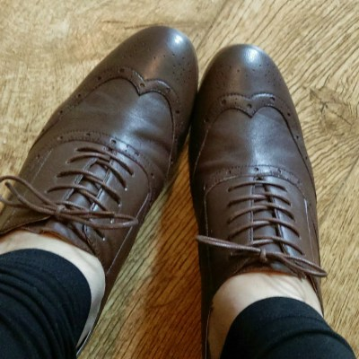 brown brogues from Lotus shoes