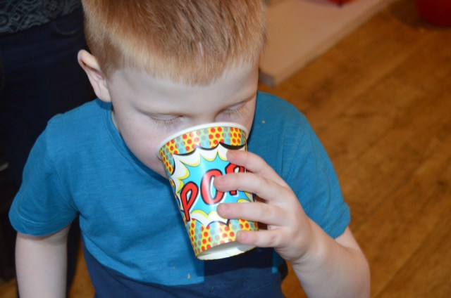 Super hero party cups from Fabulous Partyware
