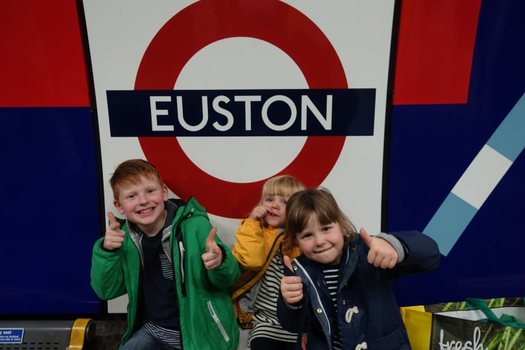 Kids at Euston