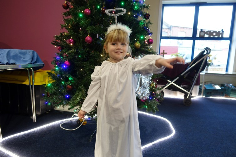 Angel at nativity