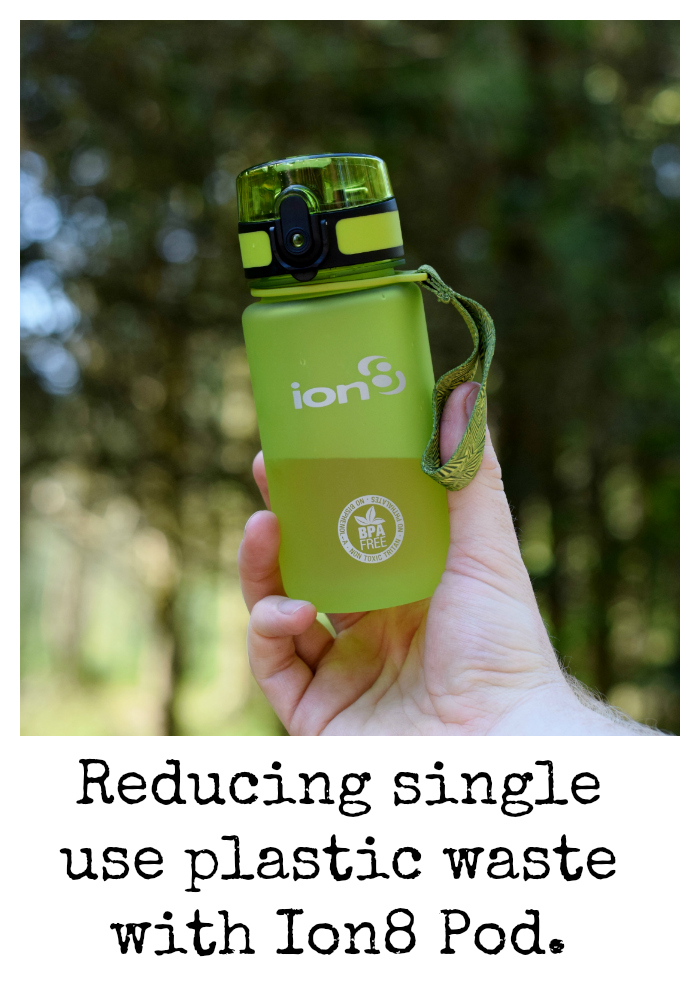 Reducing single use plastic waste with the Ion 8 Pod reusable drinks bottle