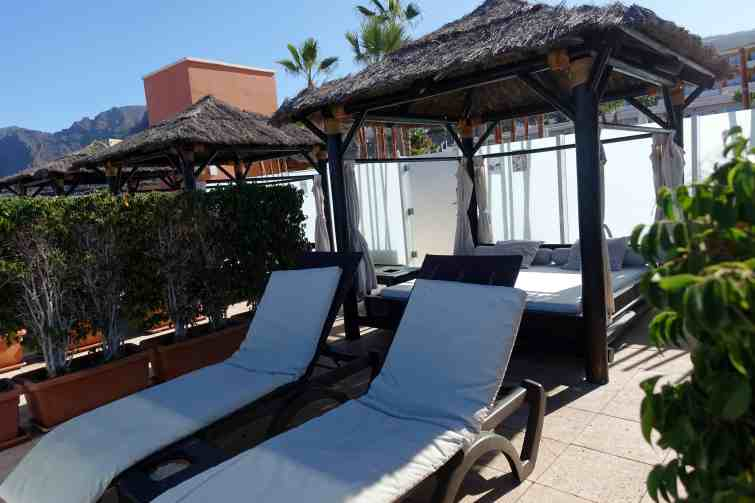 Private Balinese beds at Holiday Village Tenerife