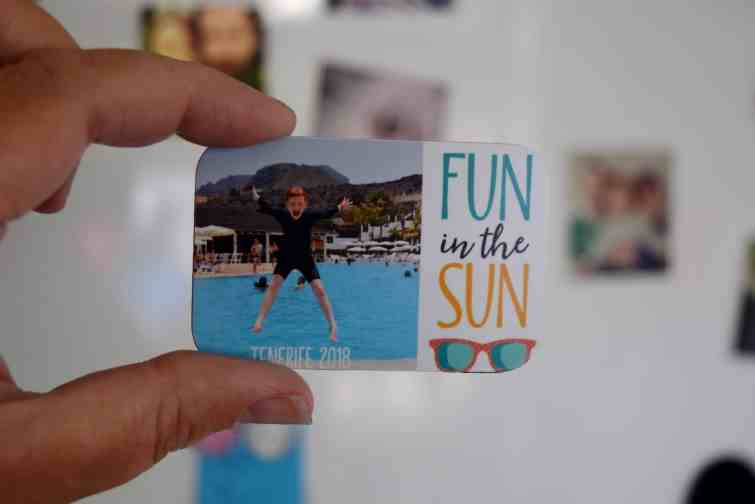 Snapfish photo fridge magnet