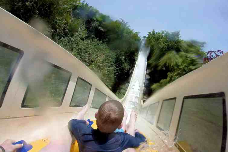 Siam Park rides with kids