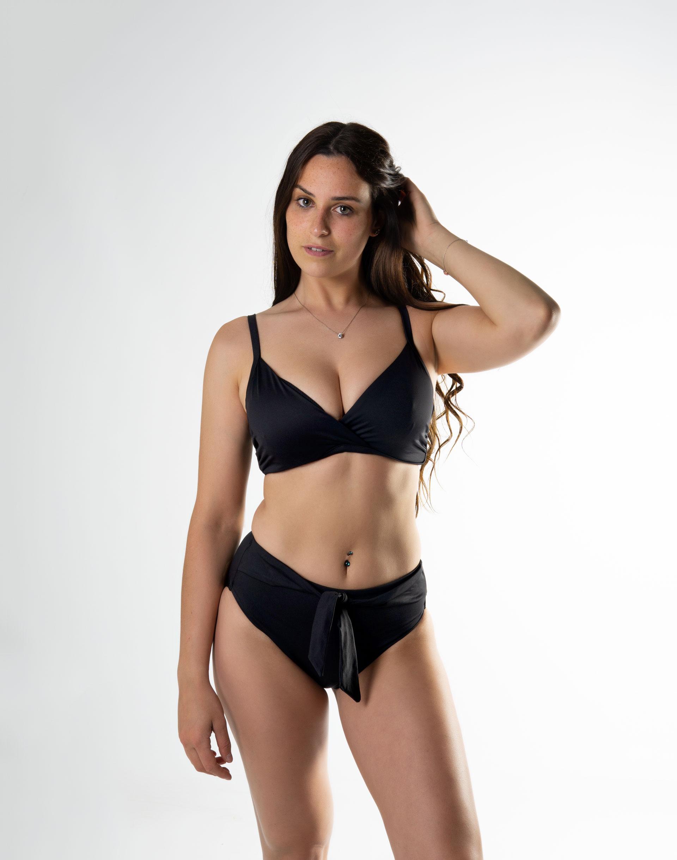 Sujetador bikini triangulo con aro copa D