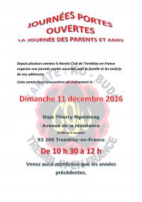 Dimanche 11 décembre 2016 : La journée des parents et amis