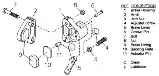 Ford Front Brake Caliper Diagram