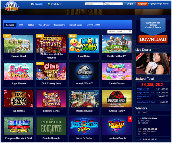 All slots casino spellen