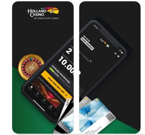 Holland Casino gratis app bij app stores voor Andriod en iPhone