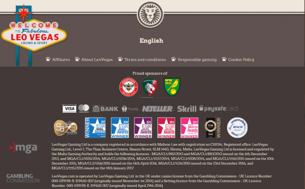 Licenses of casino