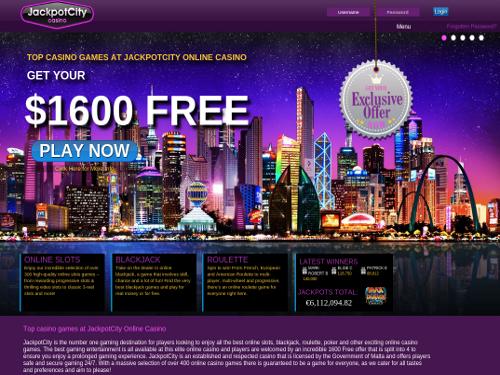 online welkom bonus werkt jackpot city