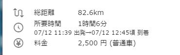 成田空港から友理 所要時間