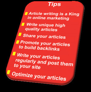 online article marketing tips