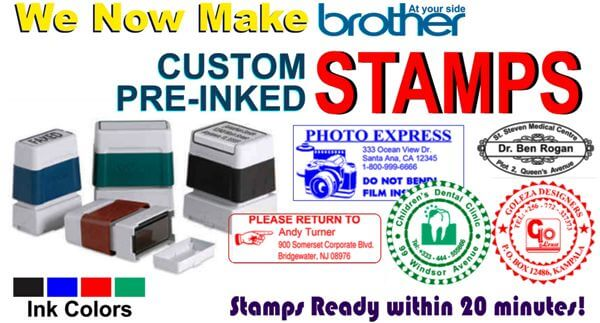 brother pre-inked stamps