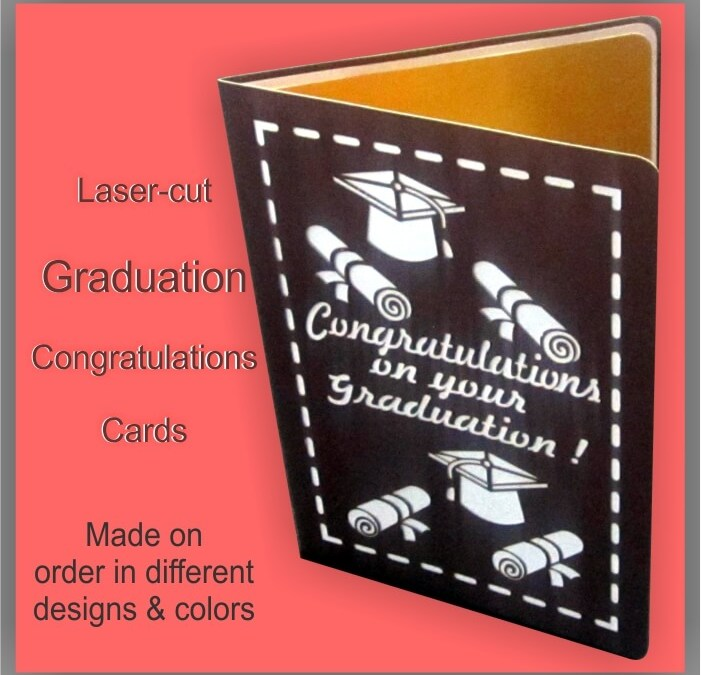 Laser-cut Graduation Cards with Customized Words of Recognition