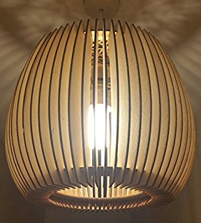 Striped Wooden Lampshades