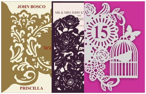 Which Laser-cut Cards Do We Offer At Goleza Designers?