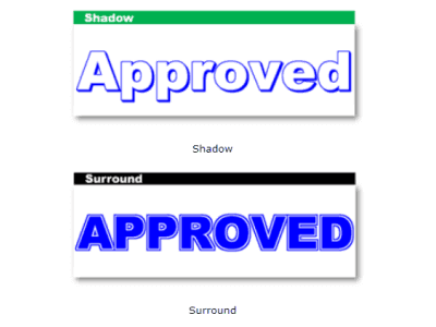 Stamp Font Effects