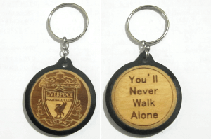 Liverpool Engraved Soccer Keychain