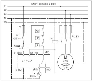 OPS2 oil pressure differential switch