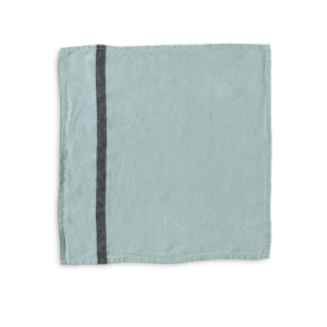 Merci_Celadon striped washed linen table napkin