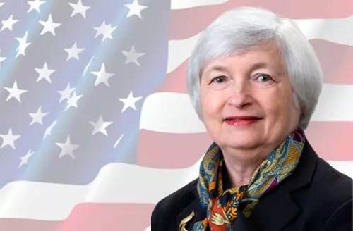 นางเจเน็ต เยลเลน รัฐมนตรีคลังสหรัฐฯ