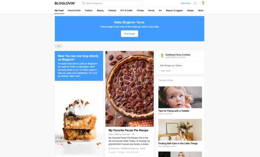 Bloglovin-Homepage