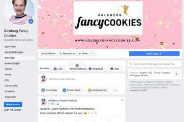 Facebook-Seite von Goldberg Fancy Cookies
