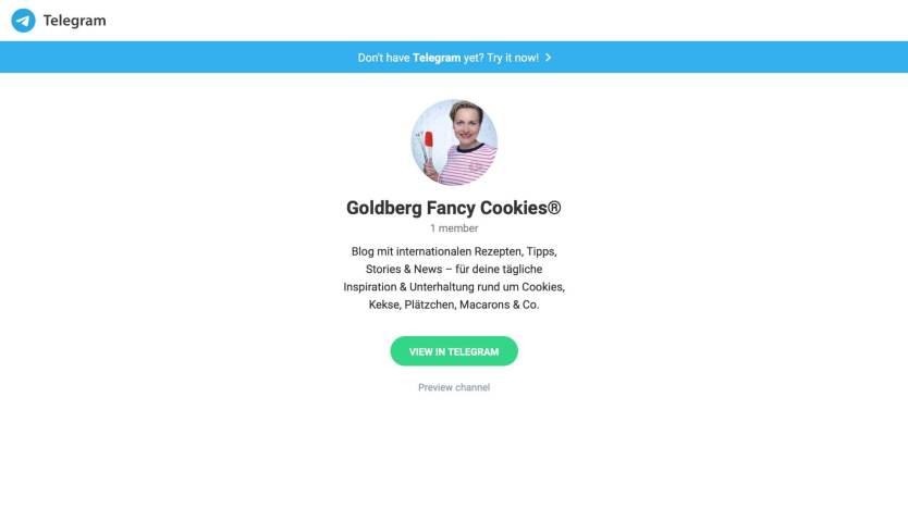 Telegram-Kanal von Goldberg Fancy C