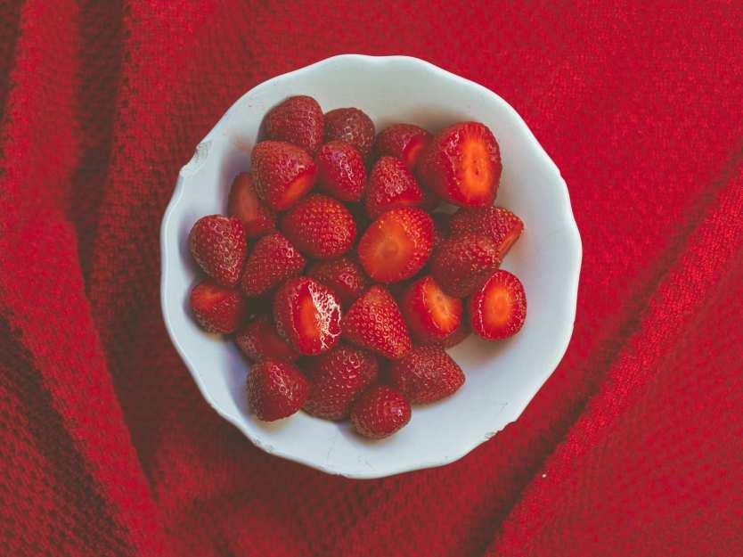 Verzehrsfertige Erdbeeren
