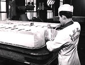 A Craftsman Making Gold Bond Mattress Circa 1950