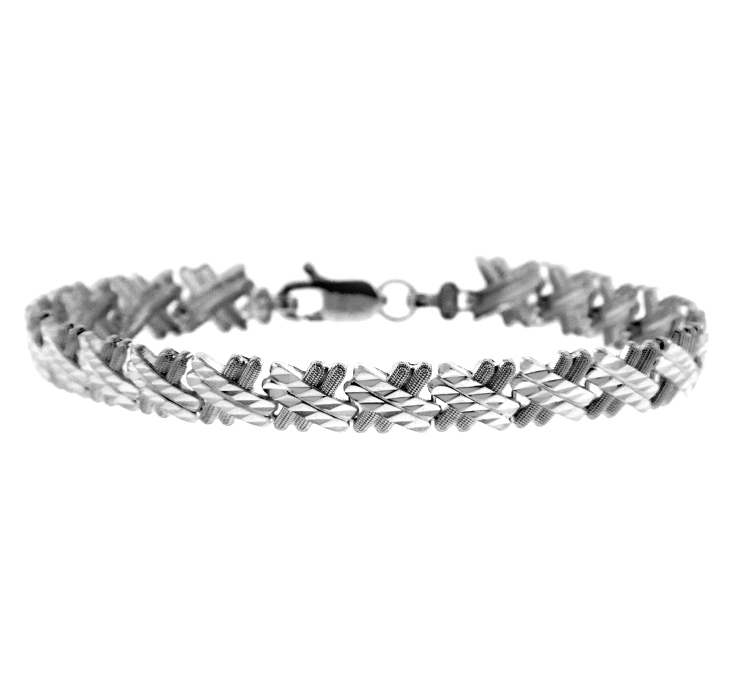 Baguette Bracelet in 9ct White Gold