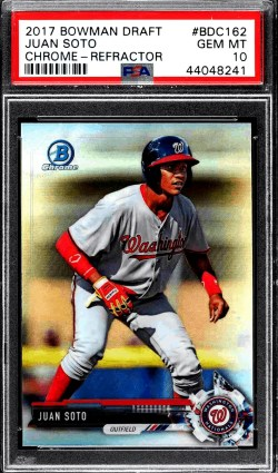 2018 Juan Soto Bowman Draft rookie card